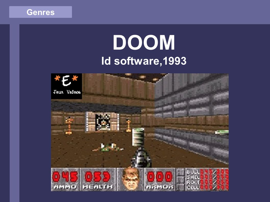 Genres DOOM Id software,1993
