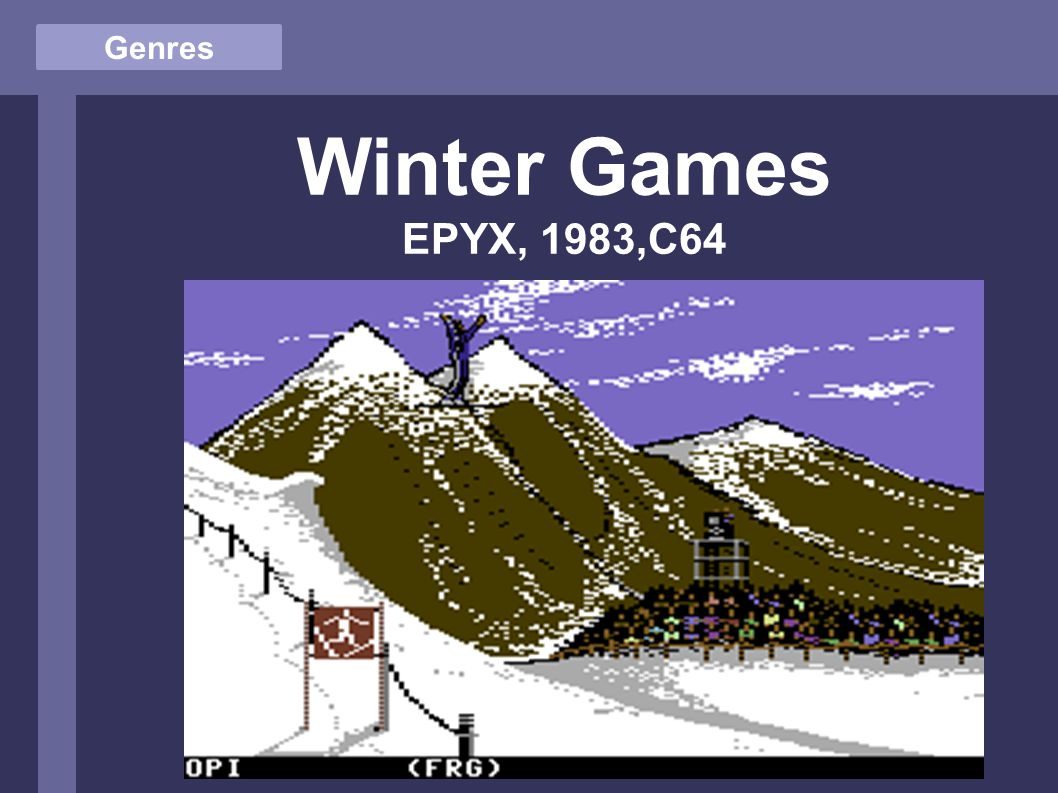 Genres Winter Games EPYX, 1983,C64