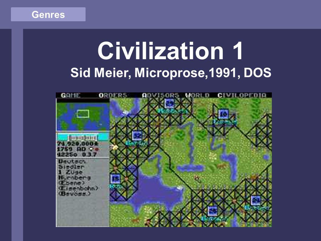Genres Civilization 1 Sid Meier, Microprose,1991, DOS