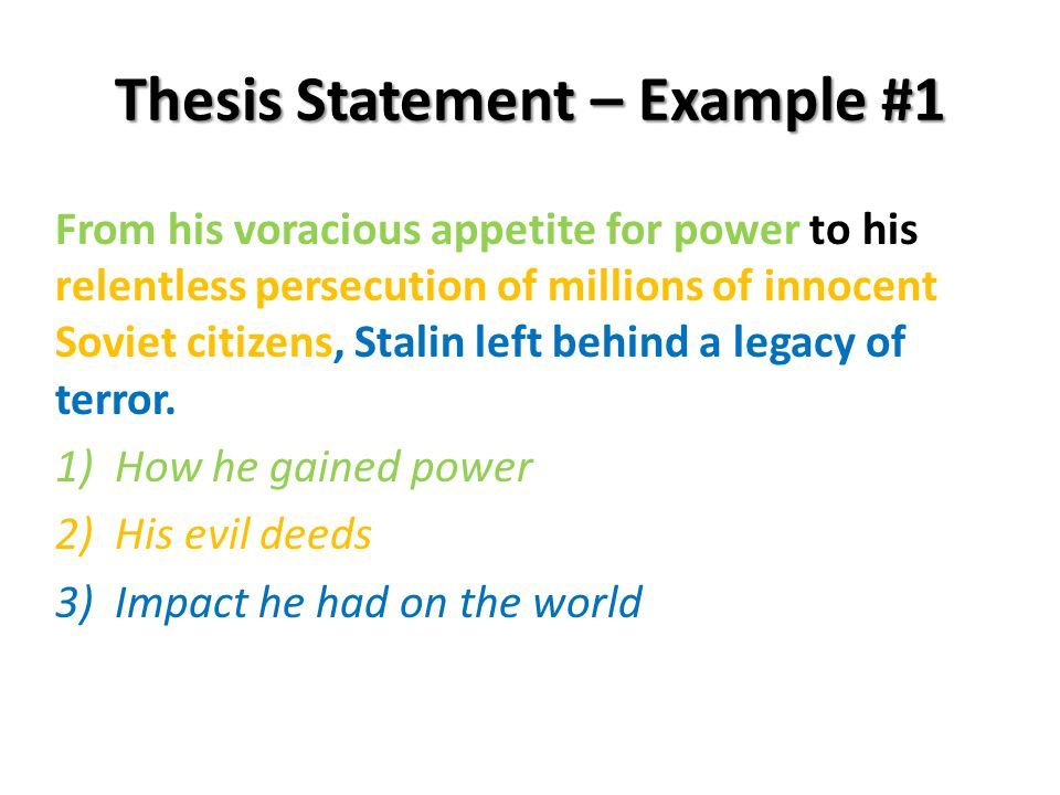 thesis statement adolf hitler