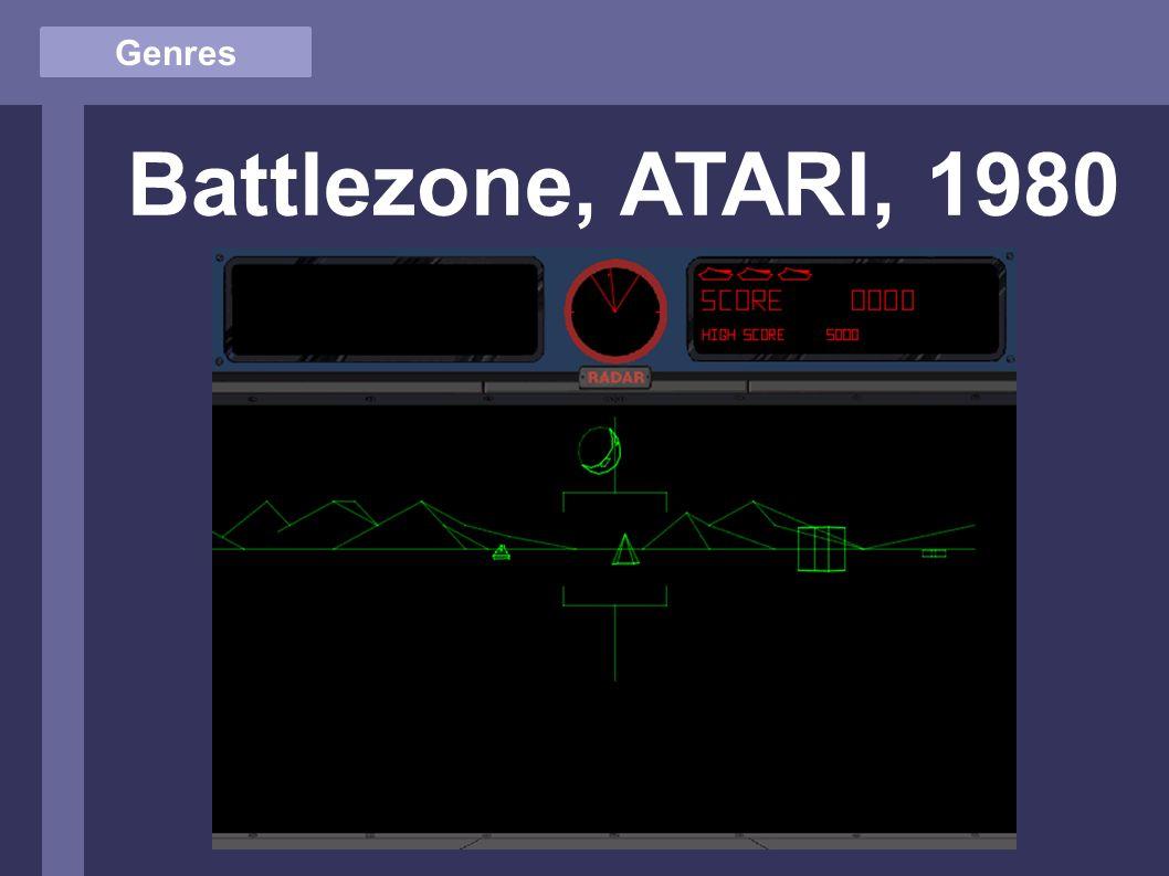 Genres Battlezone, ATARI, 1980