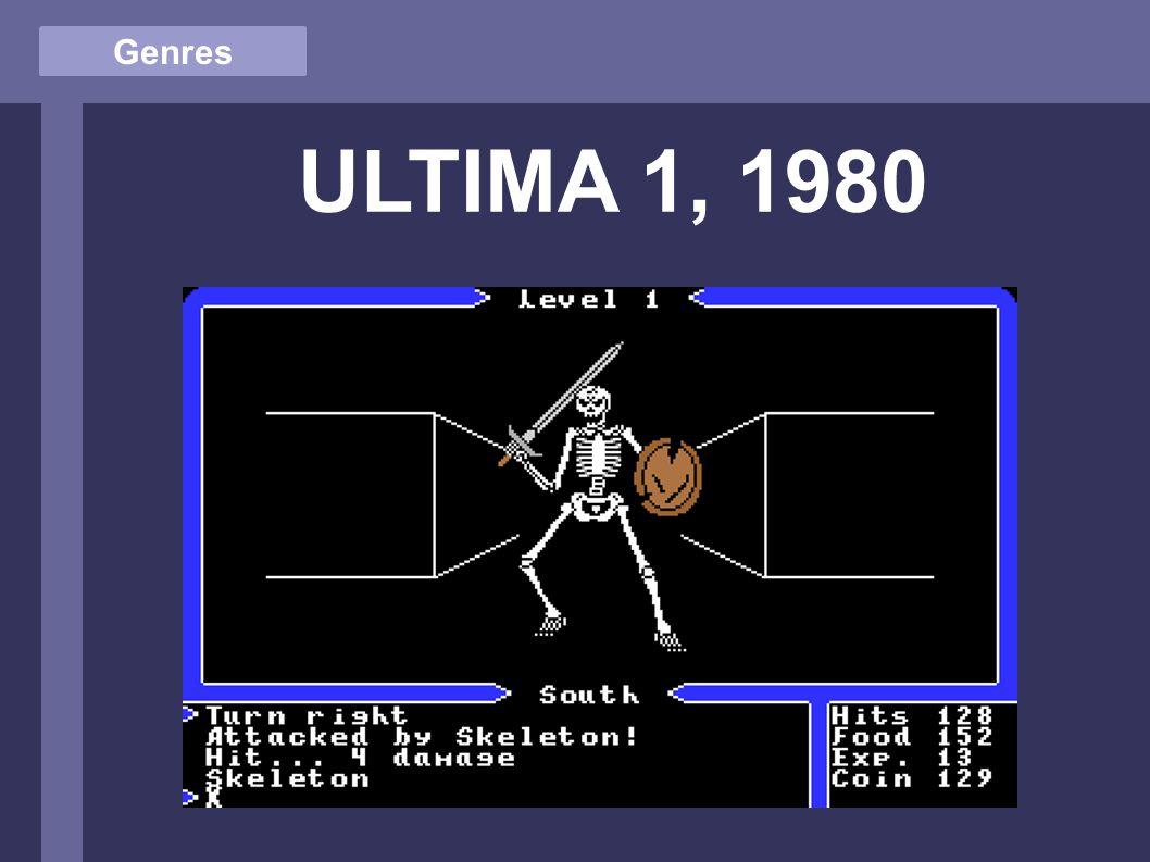 Genres ULTIMA 1, 1980