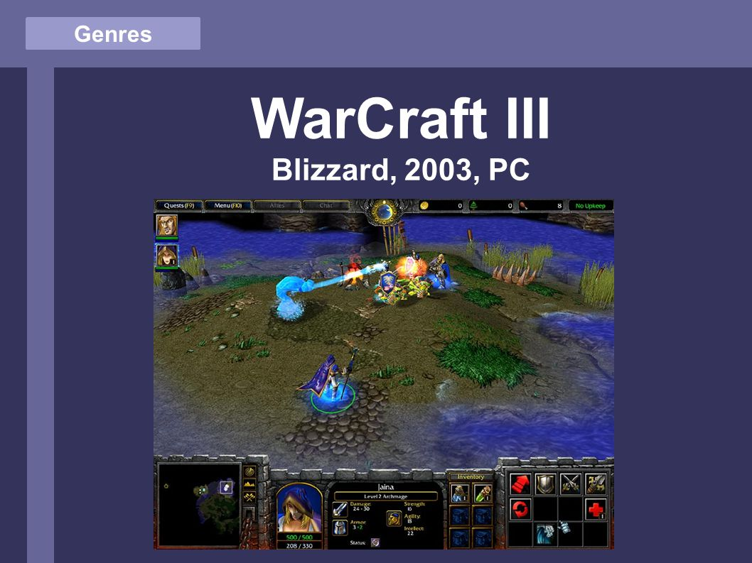 Genres WarCraft III Blizzard, 2003, PC