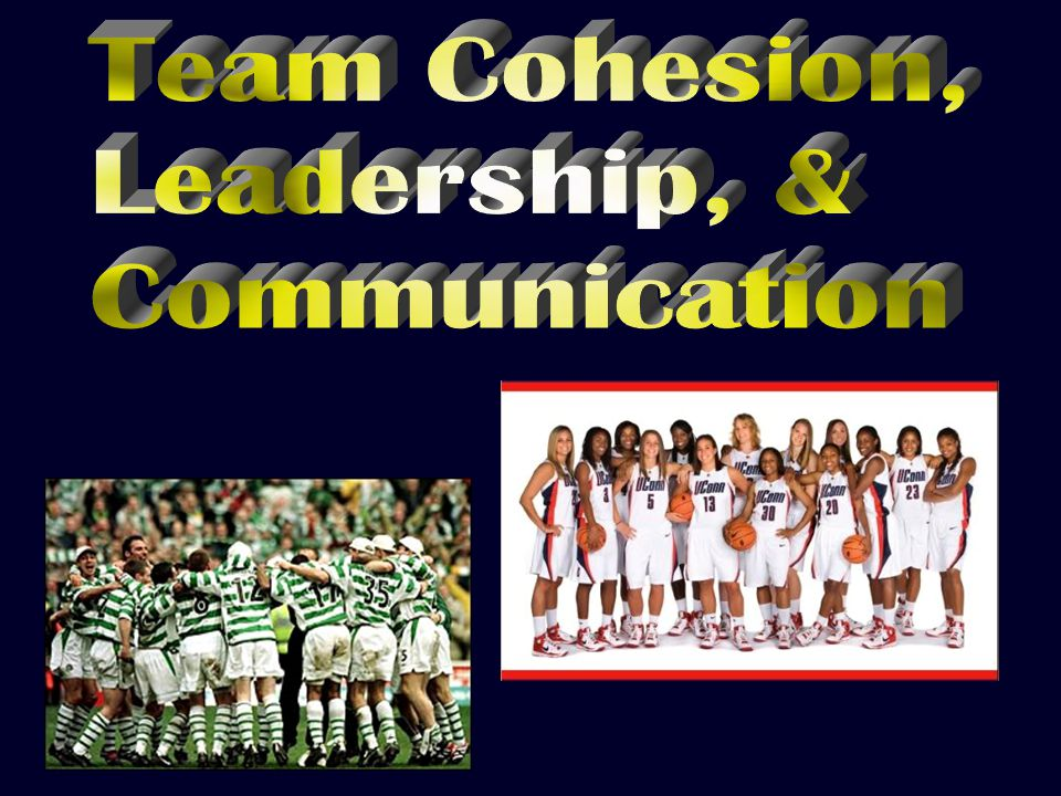  Team chemistry 3Group sticks together / remains united in pursuit of common goals 3Sense of belonging 3 Made up of: 3Task cohesion 3Social cohesion  Team chemistry 3Group sticks together / remains united in pursuit of common goals 3Sense of belonging 3 Made up of: 3Task cohesion 3Social cohesion