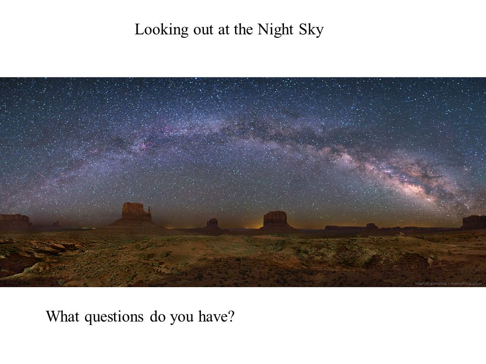 Looking out at the Night Sky What questions do you have