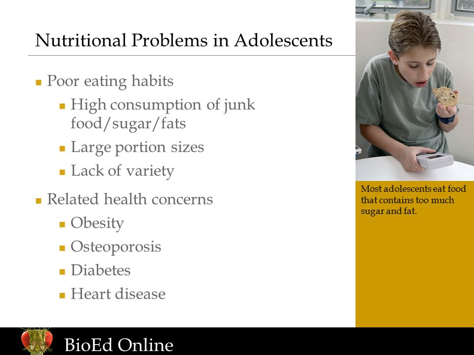 www.BioEdOnline.org BioEd Online Junk Food Fallacy: if allowed to make their own choices, students will make healthy food selections.