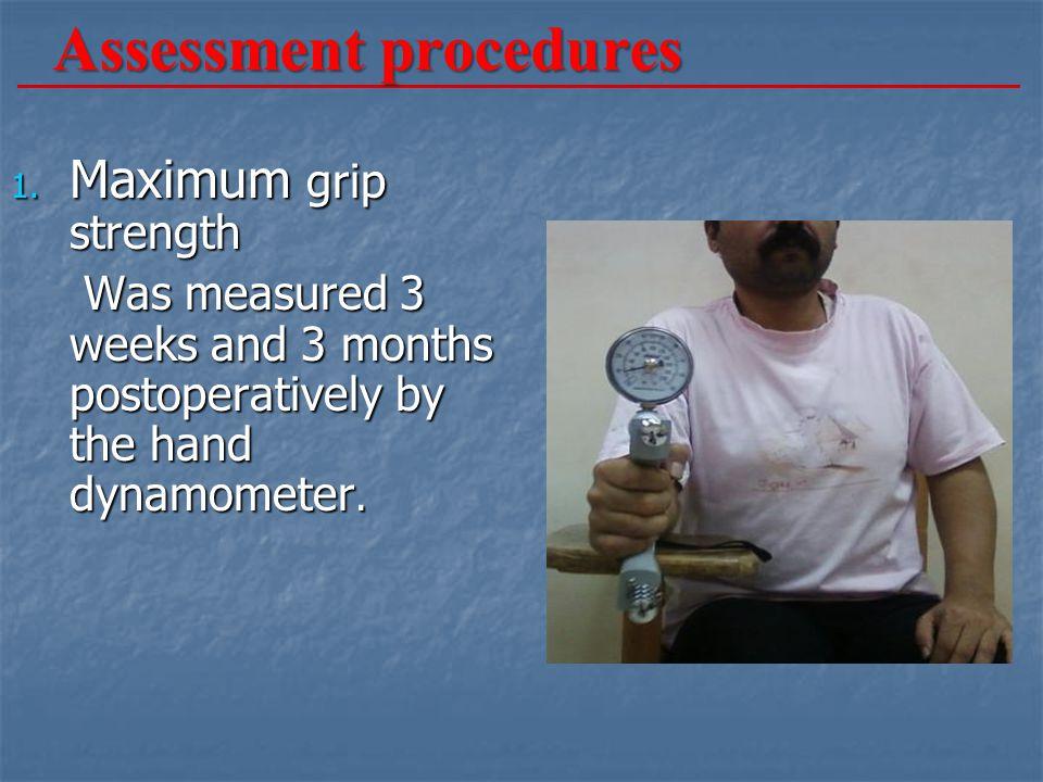 Assessment procedures 1.