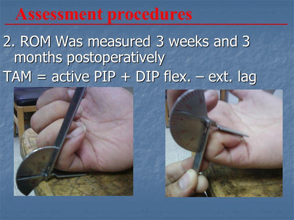 Assessment procedures 2.