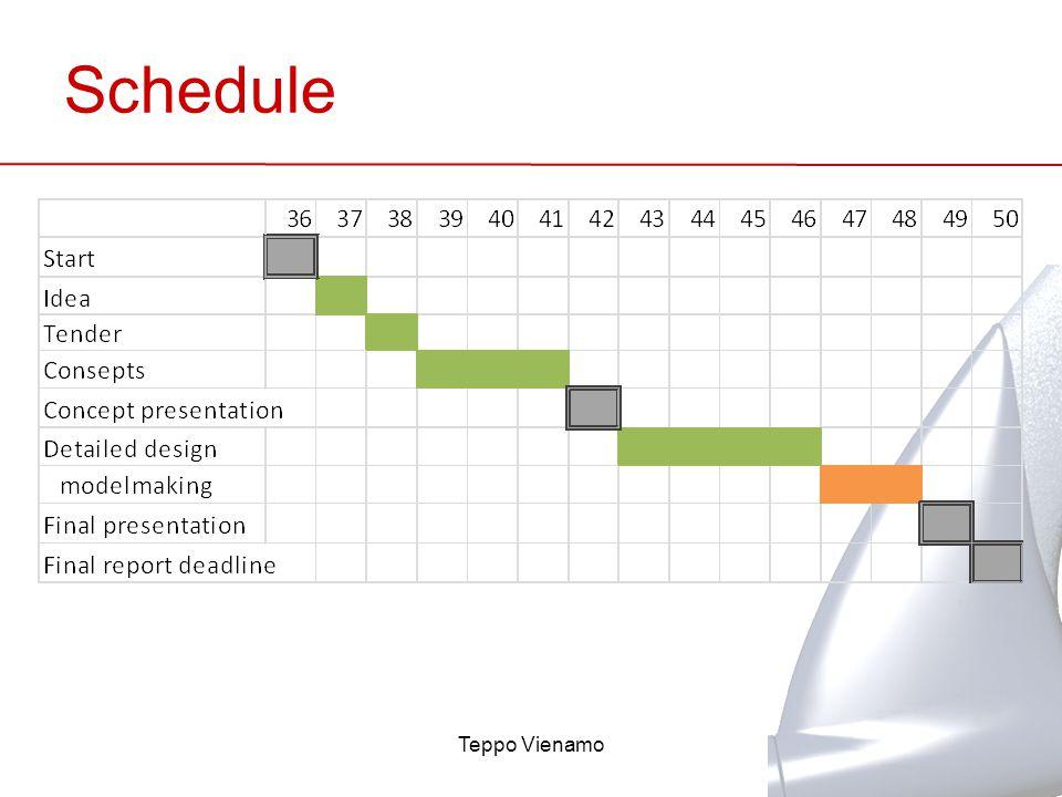 Schedule Teppo Vienamo