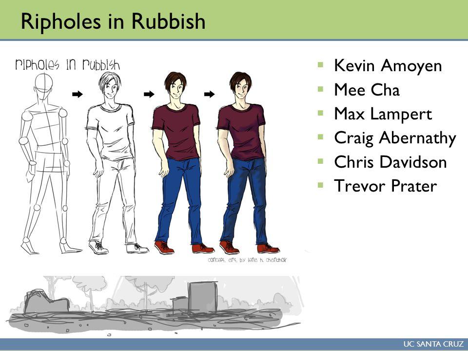 UC SANTA CRUZ Ripholes in Rubbish  Kevin Amoyen  Mee Cha  Max Lampert  Craig Abernathy  Chris Davidson  Trevor Prater