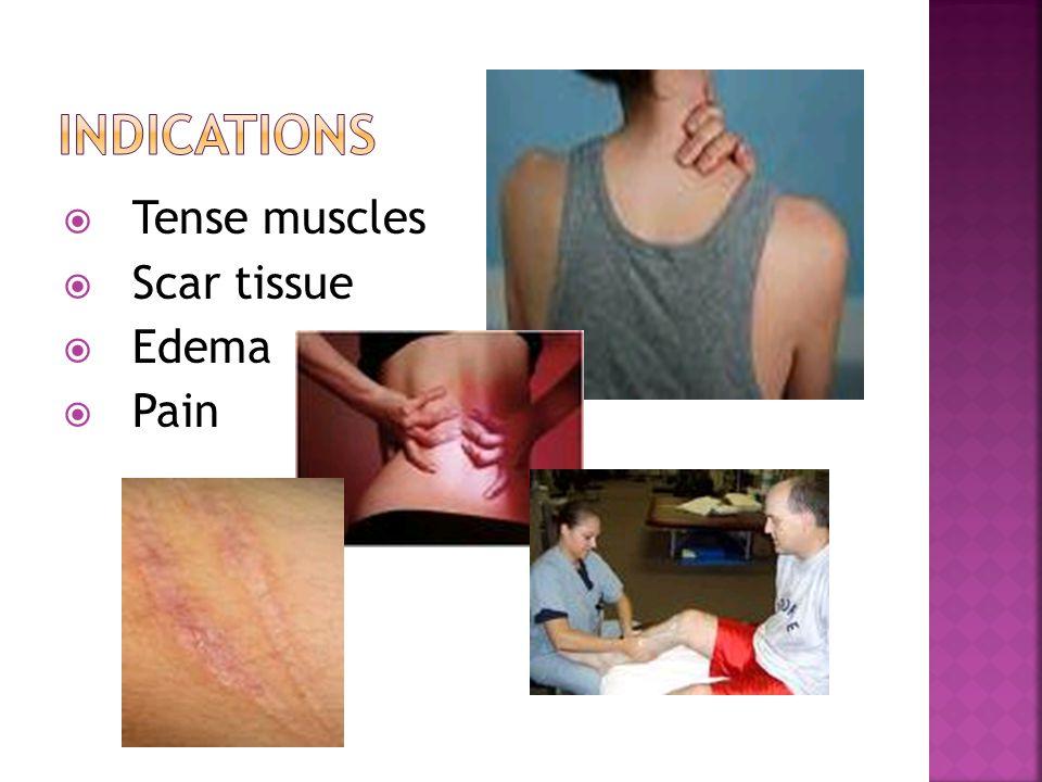  Tense muscles  Scar tissue  Edema  Pain
