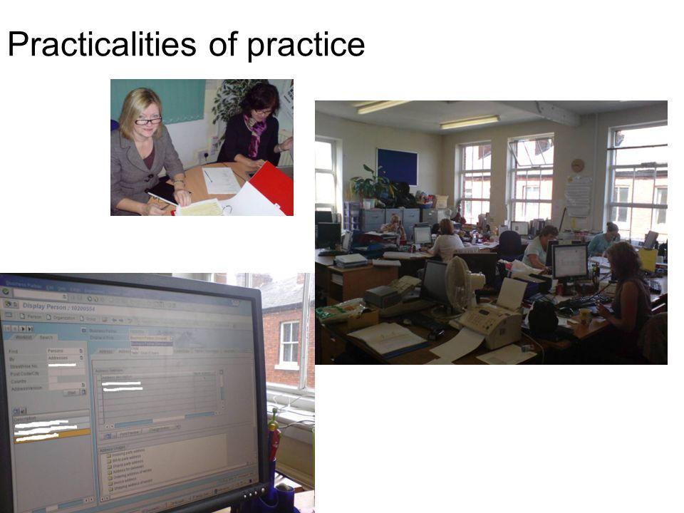 Practicalities of practice