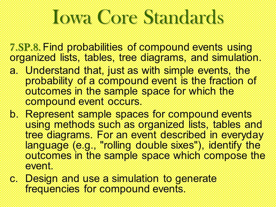 Iowa Core Standards 7.SP.8. 7.SP.8.