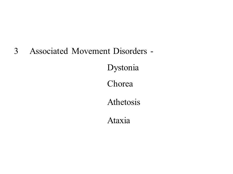 3Associated Movement Disorders - Dystonia Chorea Athetosis Ataxia