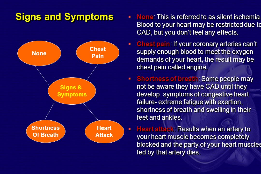 Coronary Artery Disease  Coronary artery disease is one of the most common and serious effects of aging.