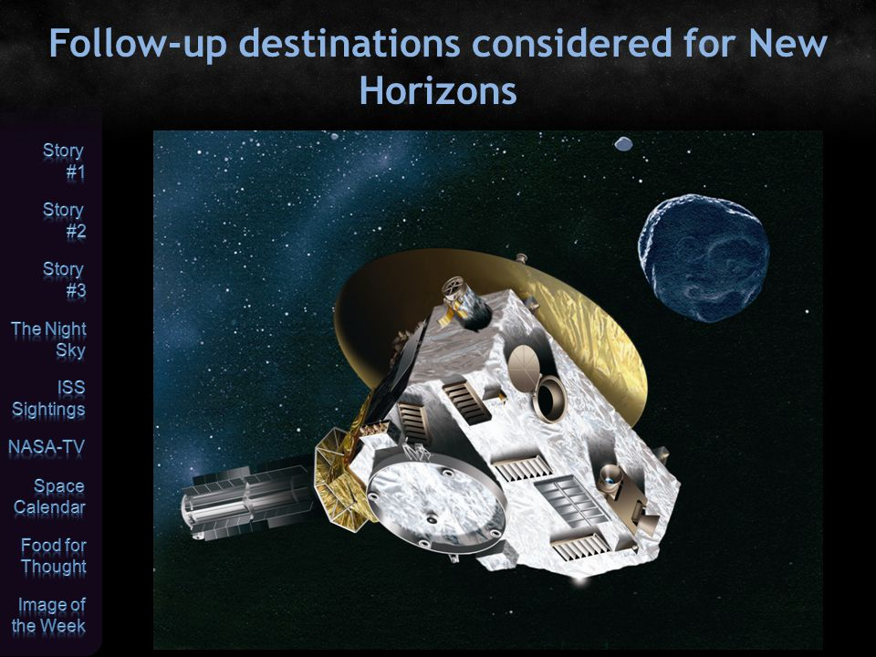 Follow-up destinations considered for New Horizons