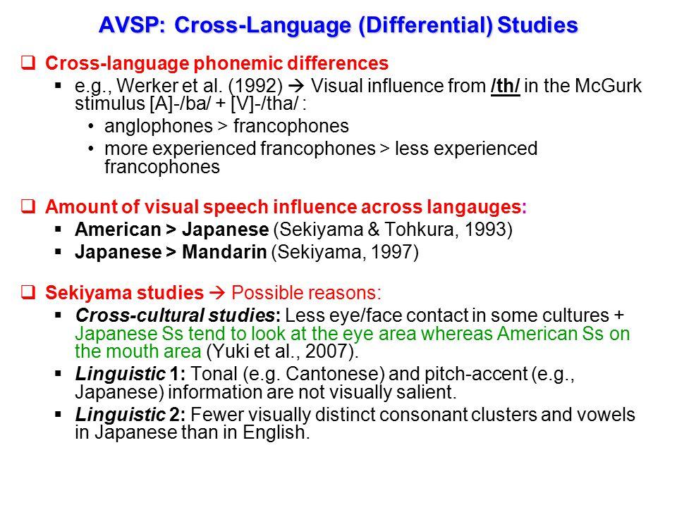  Amodal (e.g.,Schwartz, et al., 1997)  Phonetic (e.g.,Burnham & Dodd, 2004)  Phonological / Postcategorical (e.g.,Massaro, 1998)  none/some/all of the above.