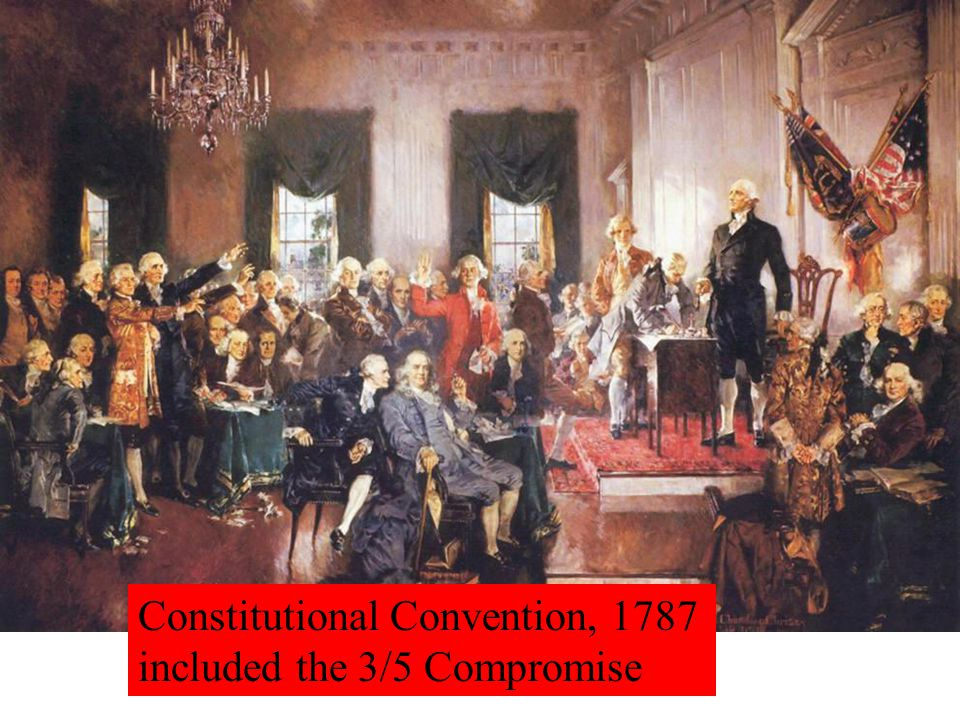 Constitutional Convention, 1787 included the 3/5 Compromise