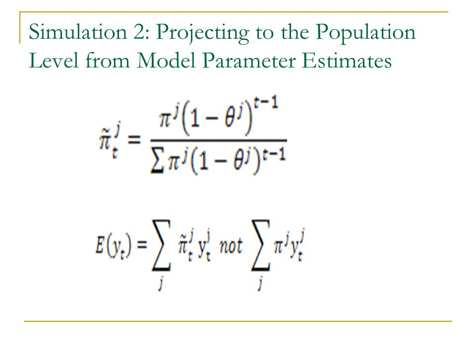 Simulation 2: Projecting to the Population Level from Model Parameter Estimates