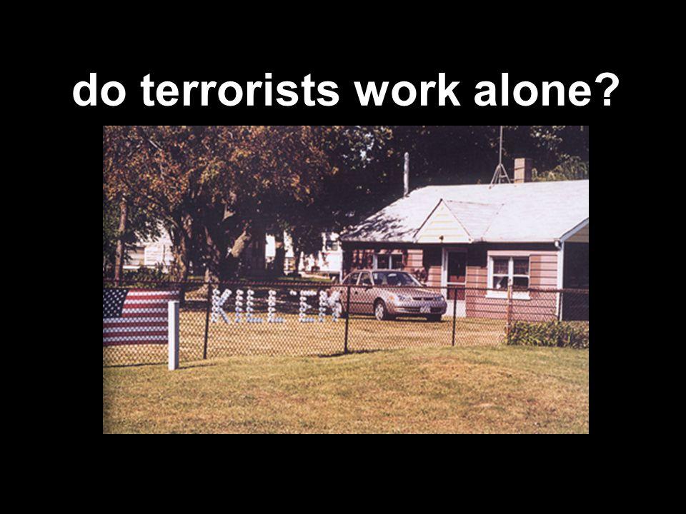 do terrorists work alone?