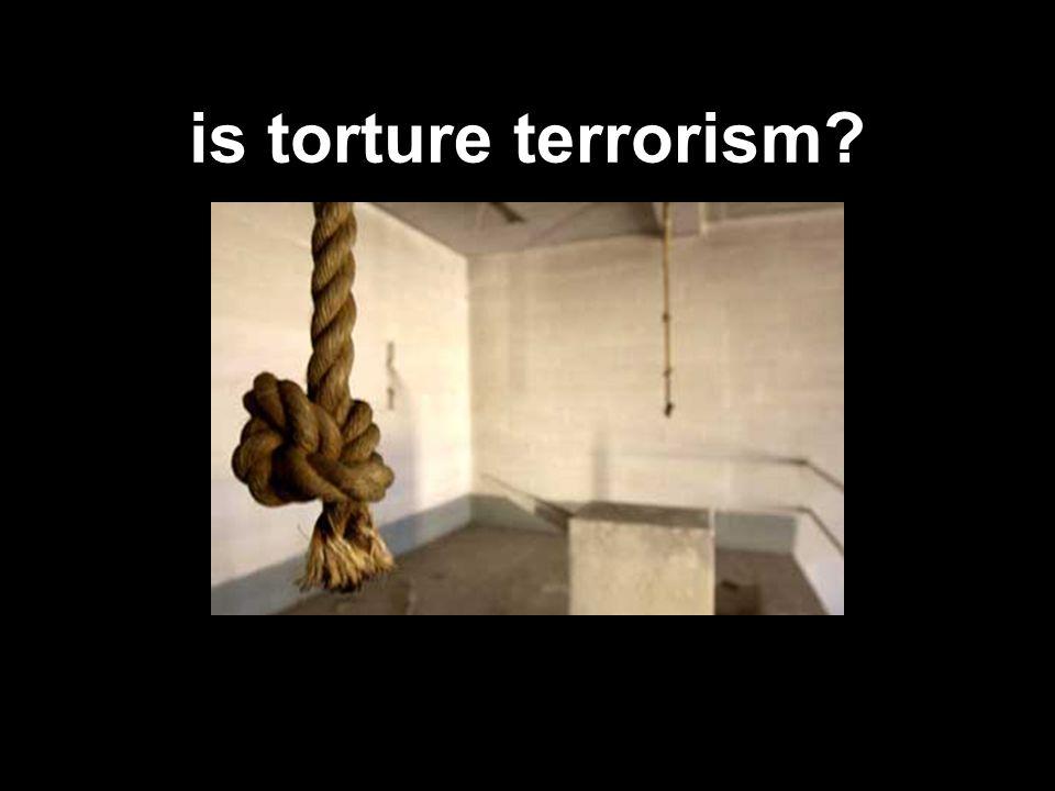 is torture terrorism?