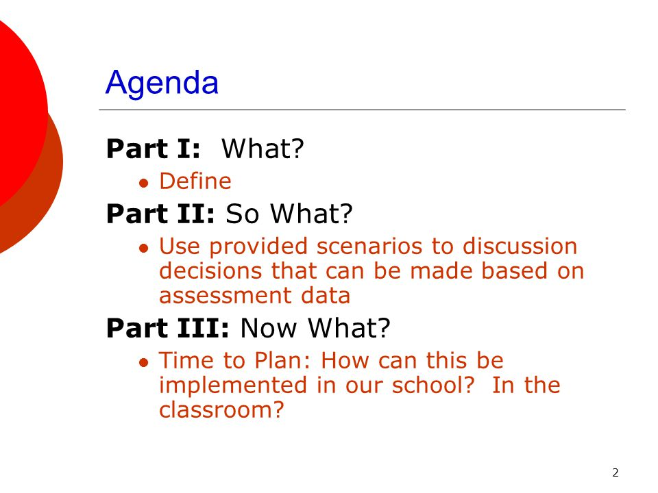3 Brainstorm  Time for a focused conversation around pre-assessments.