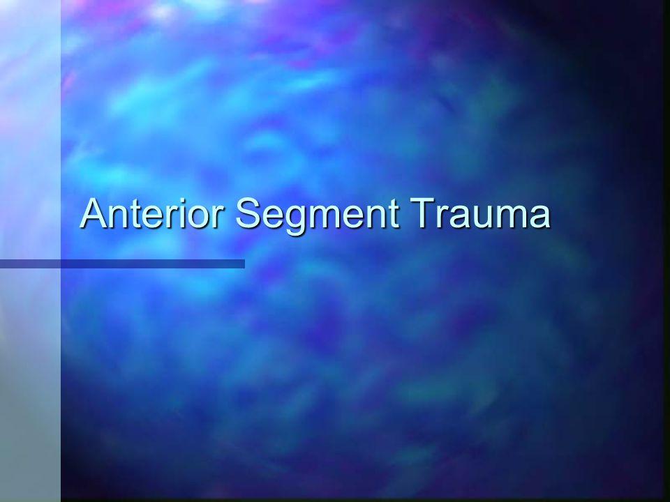 Anterior Segment Trauma
