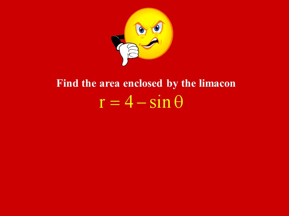 Find the area enclosed by the limacon