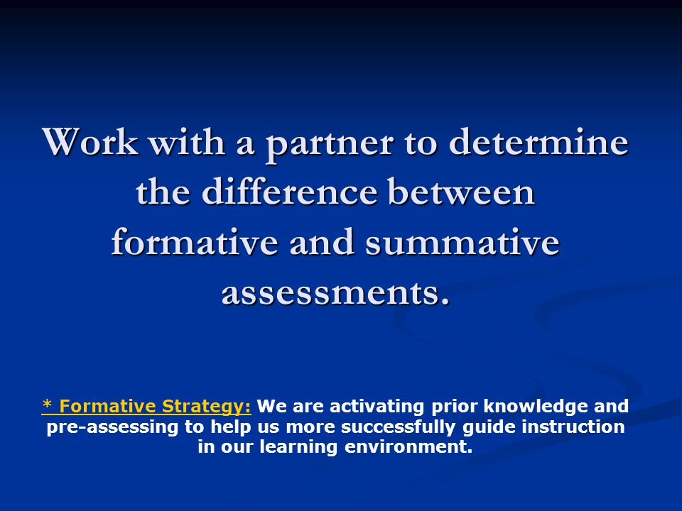Research says… Students engaged in quality classroom assessment learn more and do better on external tests.