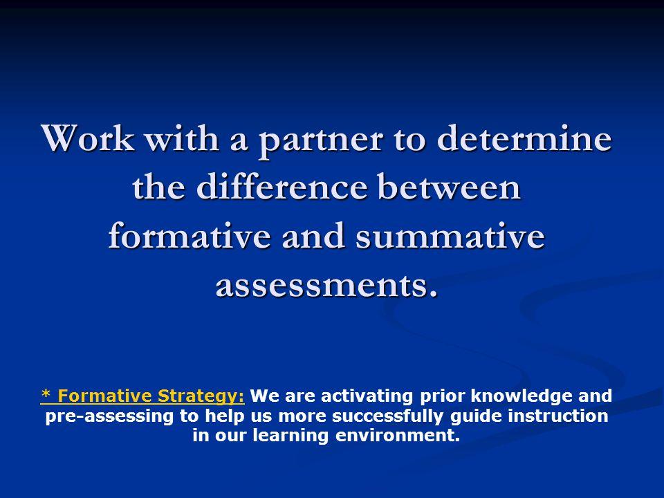 Formative or Summative.