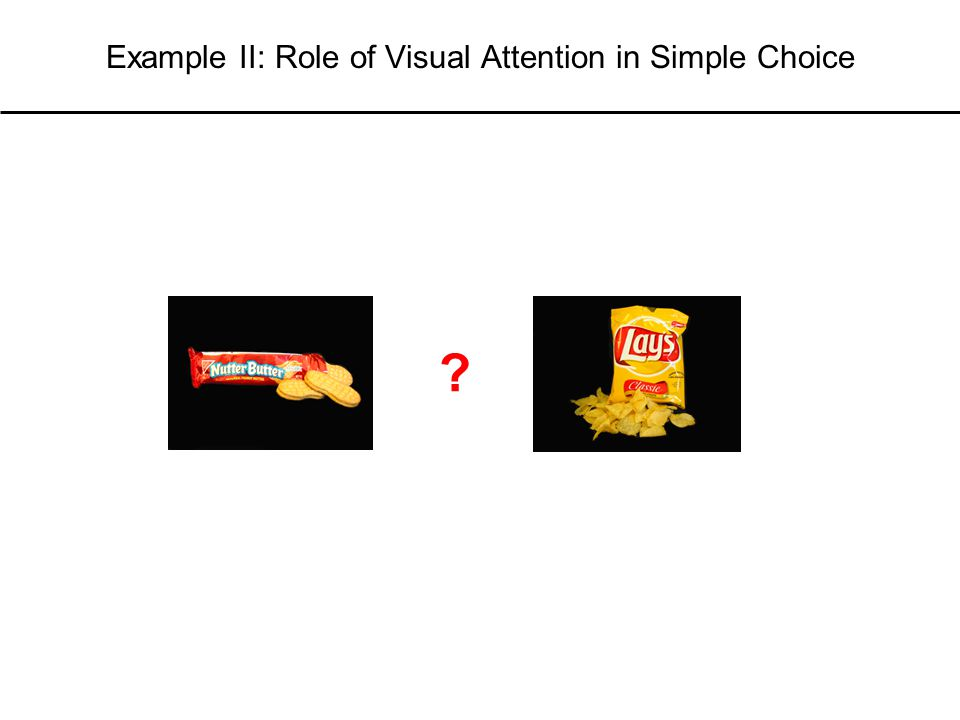 Example II: Role of Visual Attention in Simple Choice