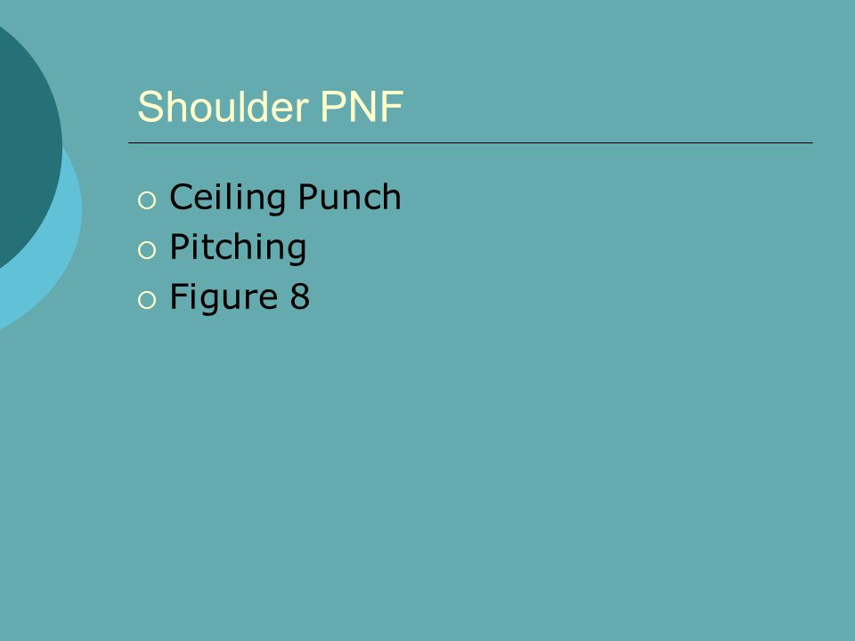 Shoulder PNF  Ceiling Punch  Pitching  Figure 8