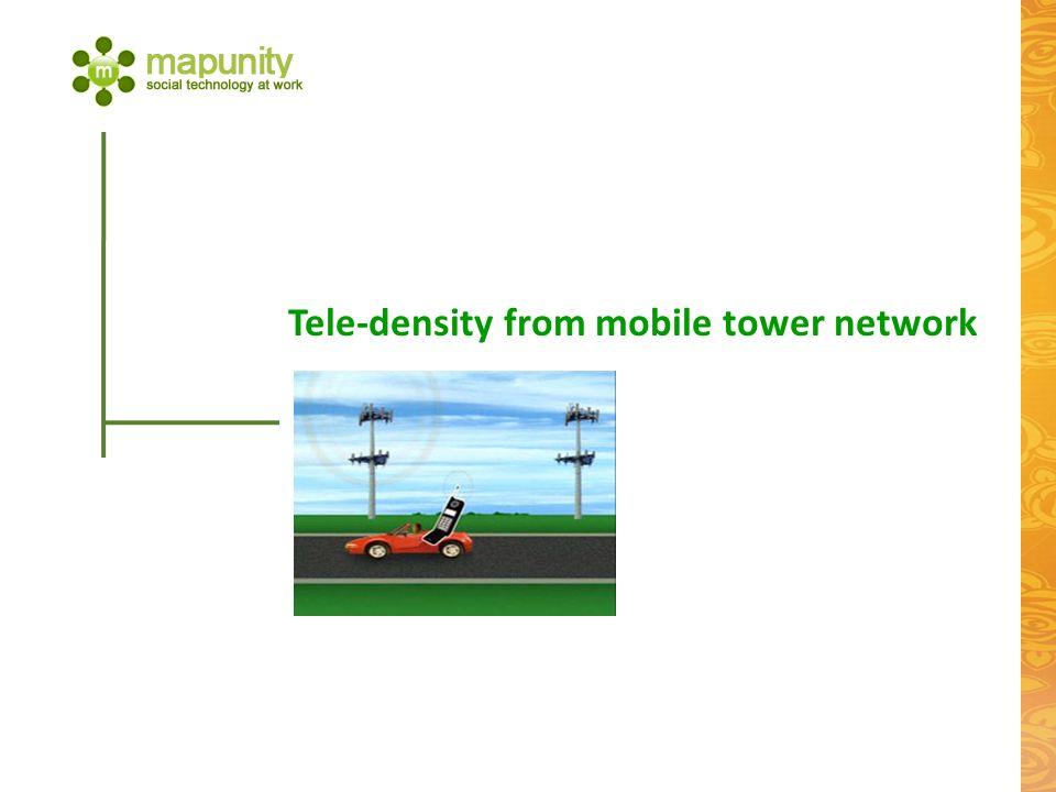 Tele-density from mobile tower network