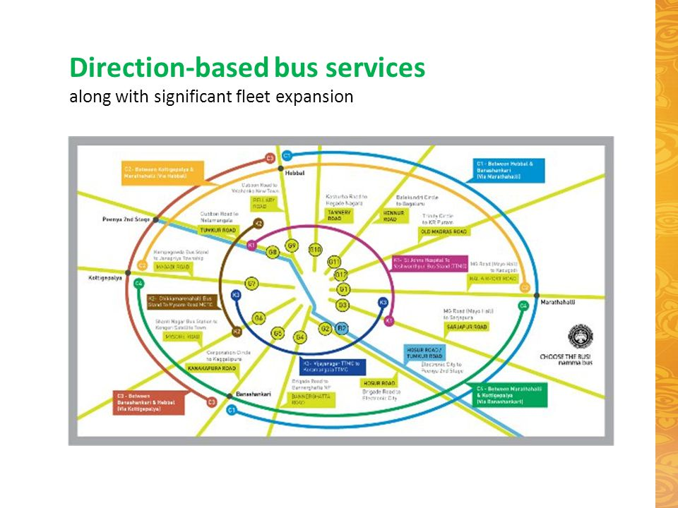 Direction-based bus services along with significant fleet expansion