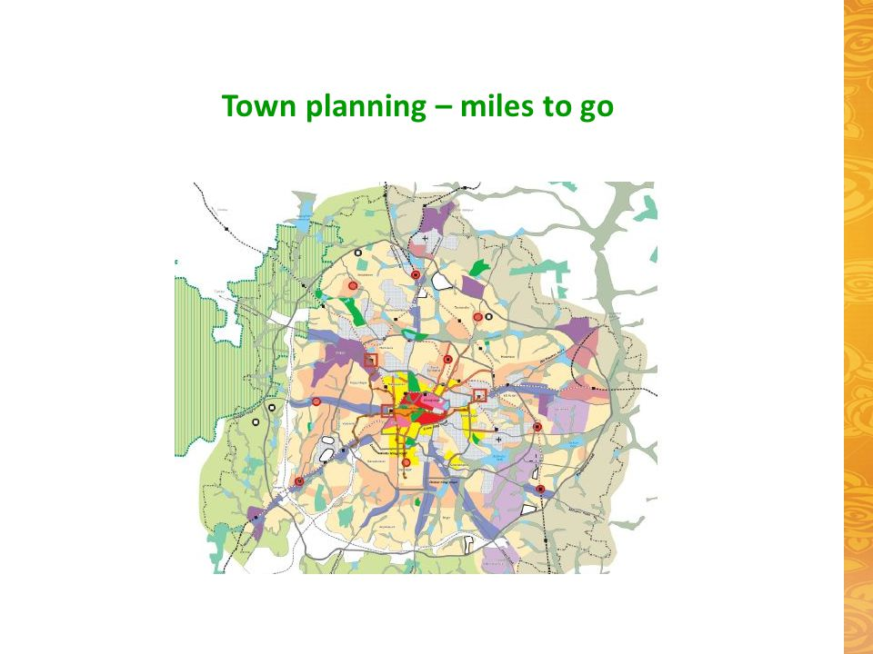 Town planning – miles to go