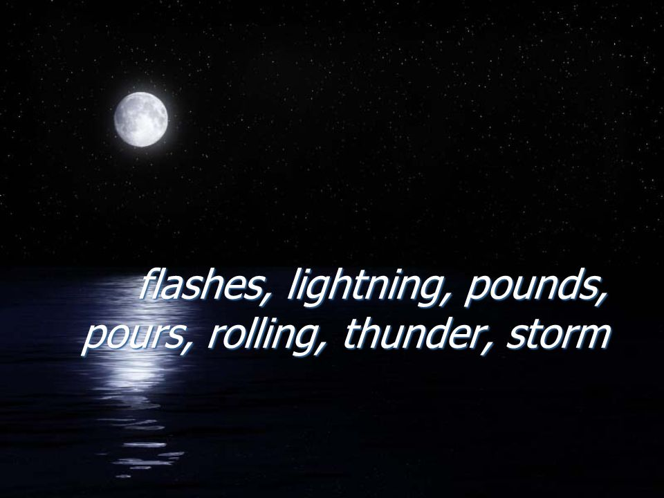 When lightning moves quickly across the sky, it does this FFLASHES