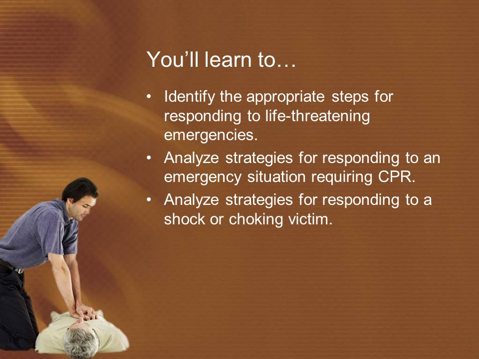 CPR for Adult continued… Give the person 2 slow, full breaths.