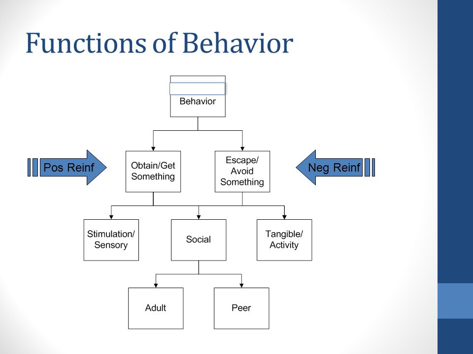 Functions of Behavior Pos ReinfNeg Reinf