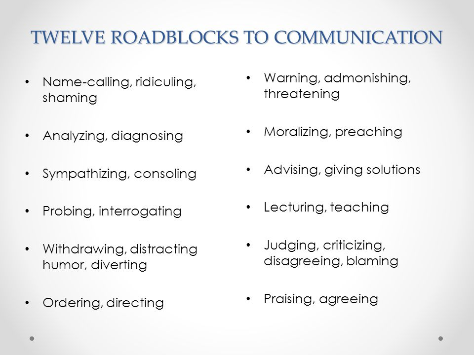 USING THE PHRASE I UNDERSTAND Why is this often a block to effective communication.