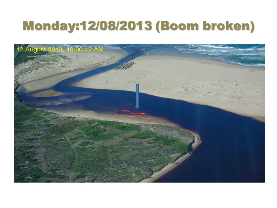 Monday:12/08/2013 (Boom broken)