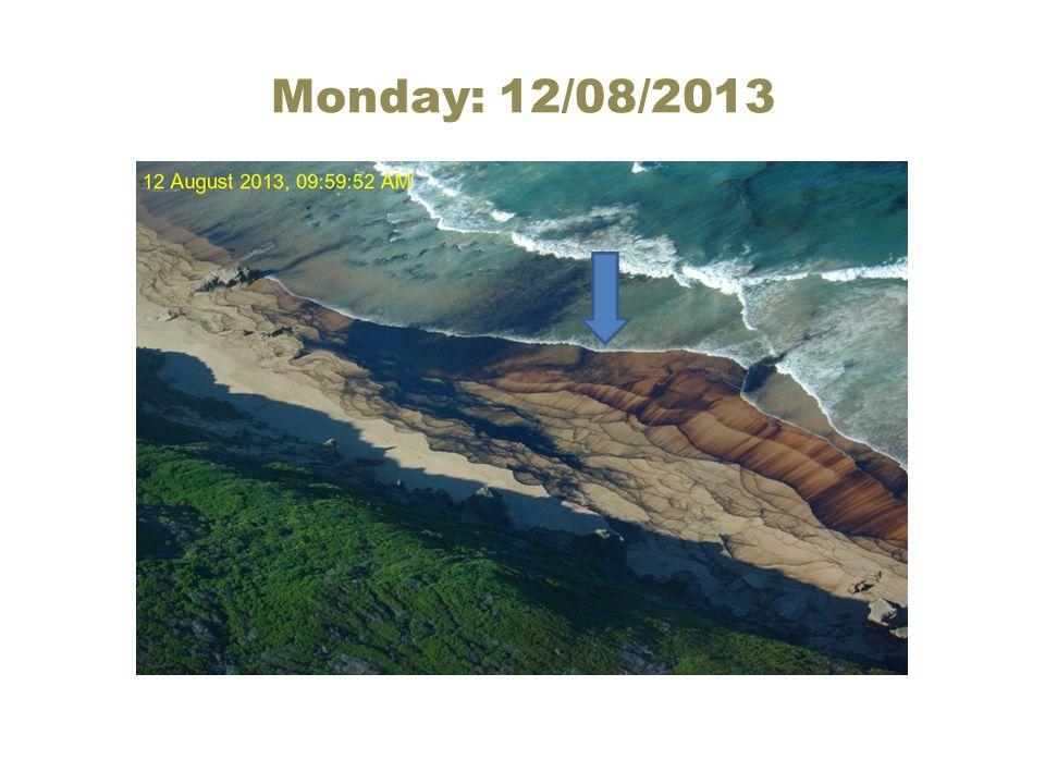 Monday: 12/08/2013