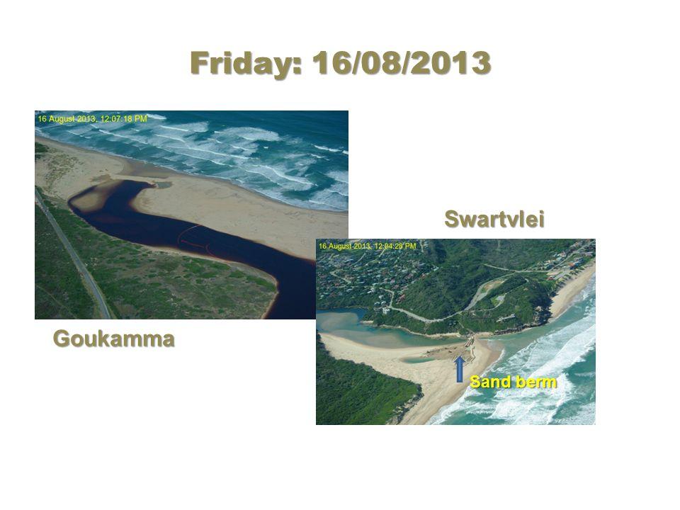 Friday: 16/08/2013 Goukamma Swartvlei Sand berm