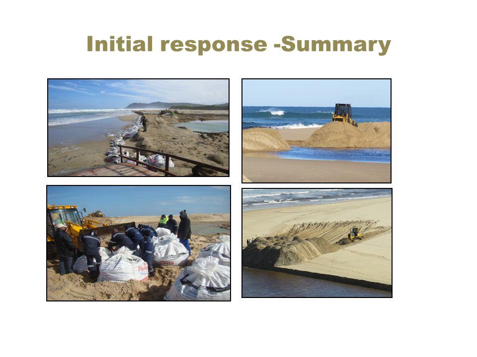 Initial response -Summary