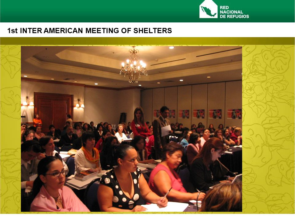 www.rednacionalderefugios.org.mx 1st INTER AMERICAN MEETING OF SHELTERS 1st INTER AMERICAN MEETING: