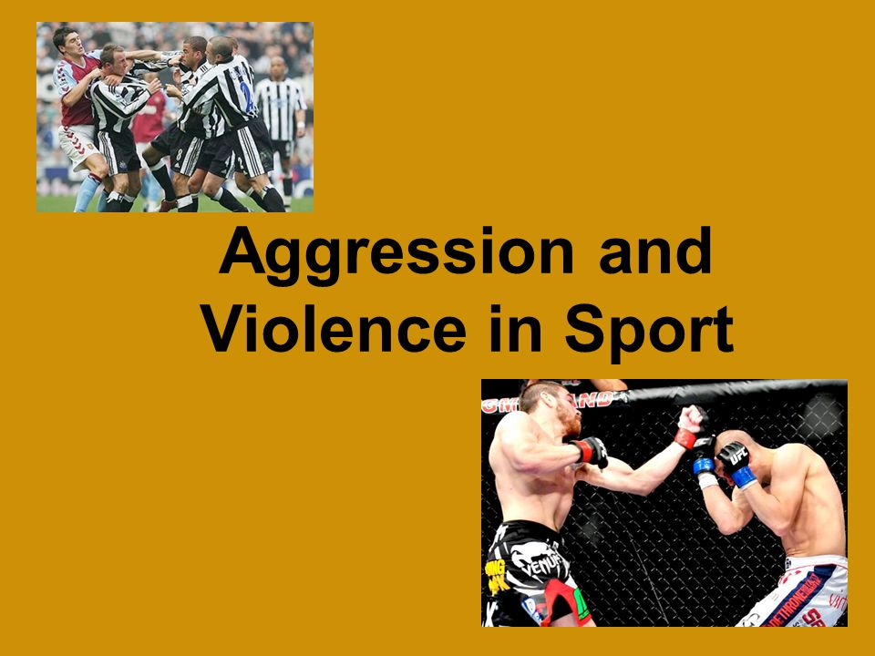Aggression and Violence in Sport