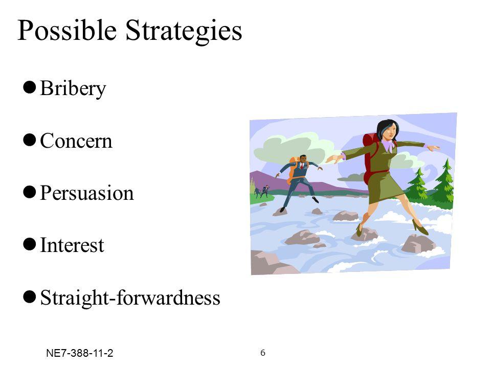 NE7-388-11-2 Bribery Concern Persuasion Interest Straight-forwardness Possible Strategies 6