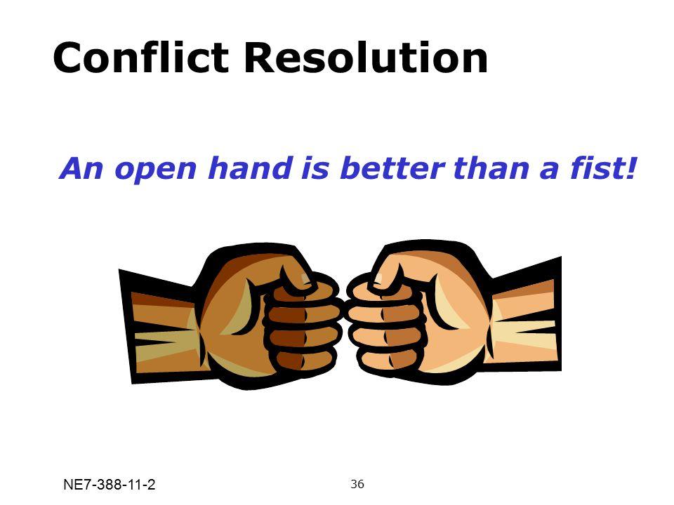 NE7-388-11-2 Conflict Resolution An open hand is better than a fist! 36