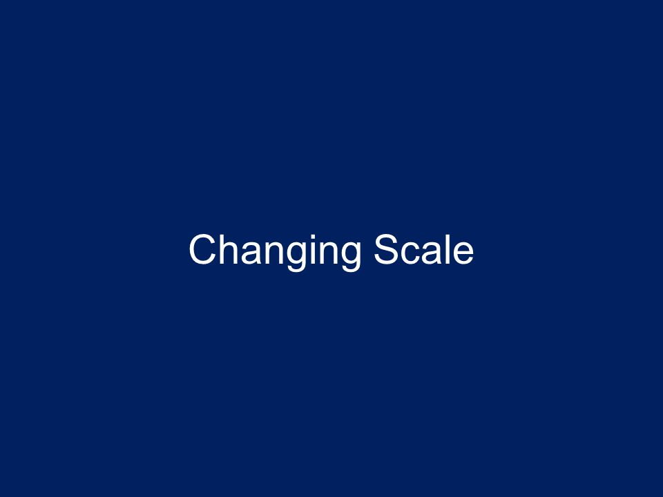 Changing Scale