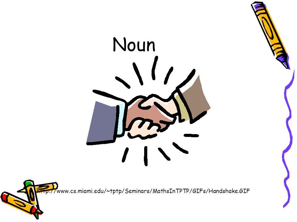 Noun http://www.cs.miami.edu/~tptp/Seminars/MathsInTPTP/GIFs/Handshake.GIF