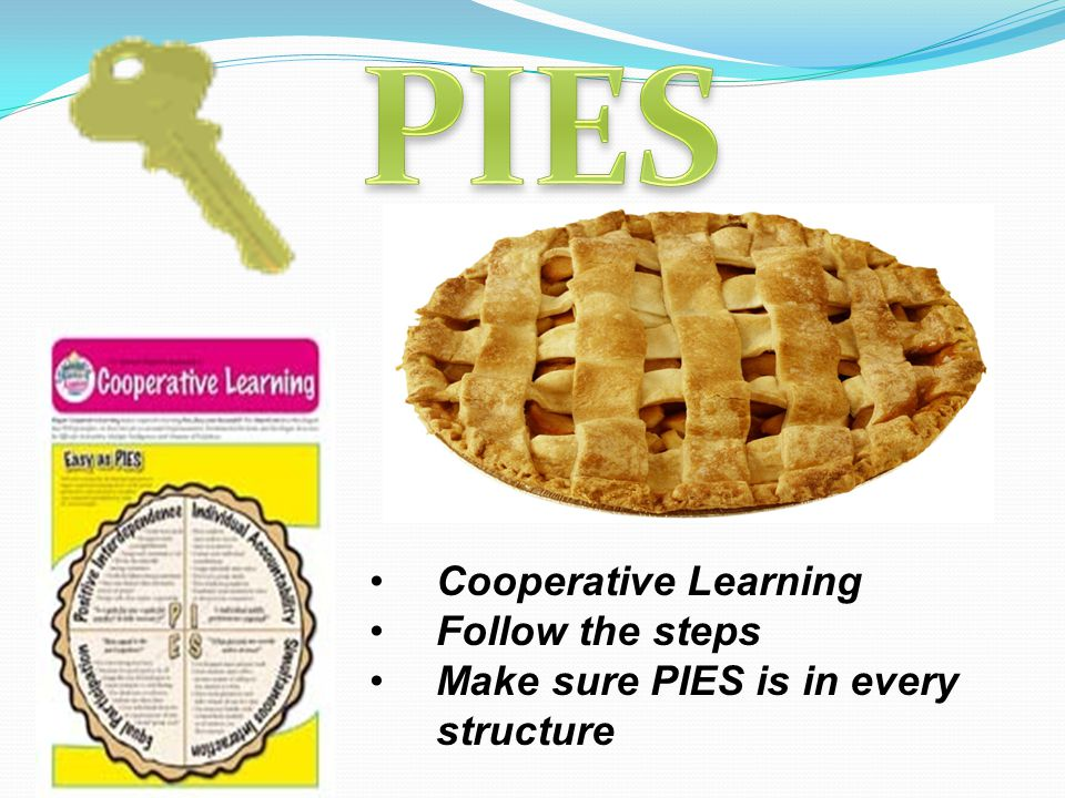 Cooperative Learning Follow the steps Make sure PIES is in every structure